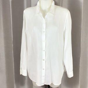 J. Jill white linen shirt